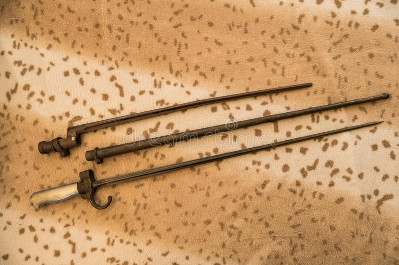 Various bayonets. From the first world war stock photo