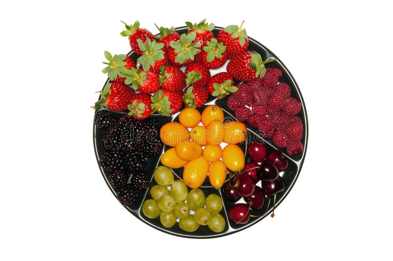 Download Various Berries On The Plate Stock Photo - Image: 12572358