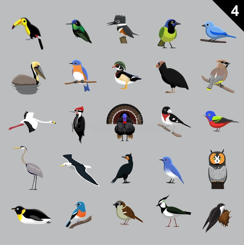 Free Various Birds Cartoon Vector Illustration 4 Stock Photography - 72085952
