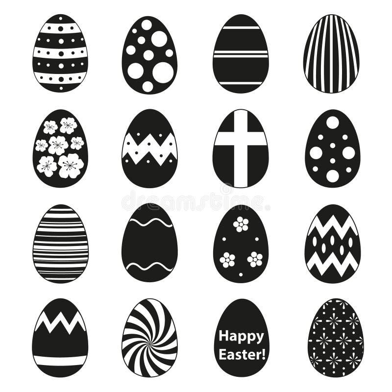 Various black Easter eggs design collection. Eps10 stock illustration