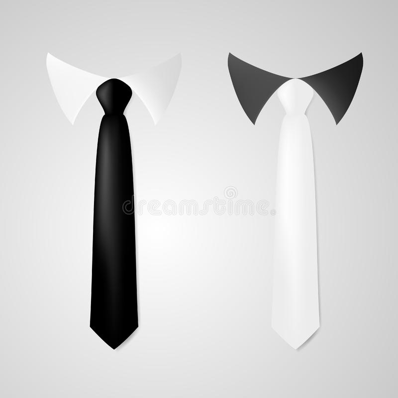 Various Black And White Business Neck Tie royalty free illustration