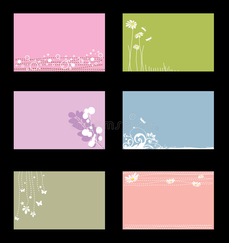 Various business cards stock illustration