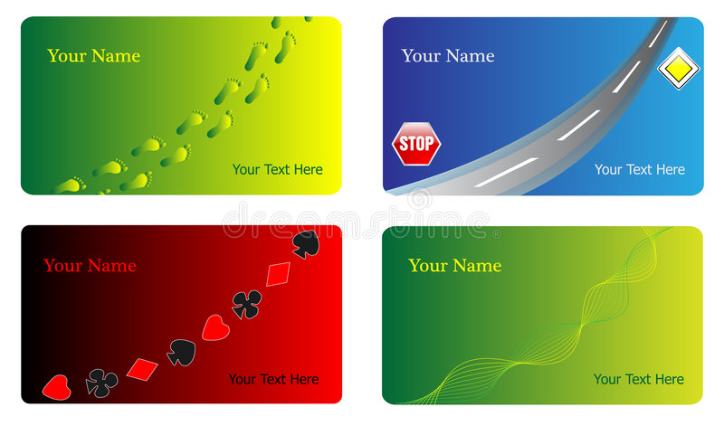 Various business cards vector illustration