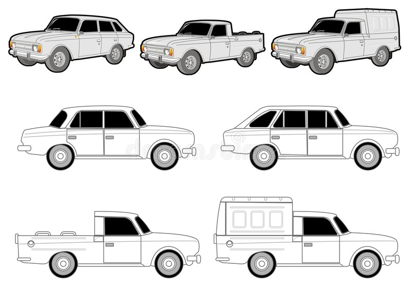 Download Various car modifications stock vector. Image of blank - 3033177