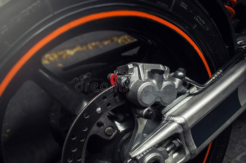 Different car parts. Various car parts accessories to improve the appearance and movement of the vehicle stock photos