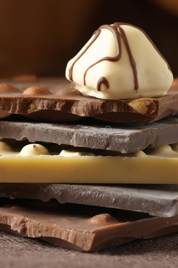 Various chocolate stock images