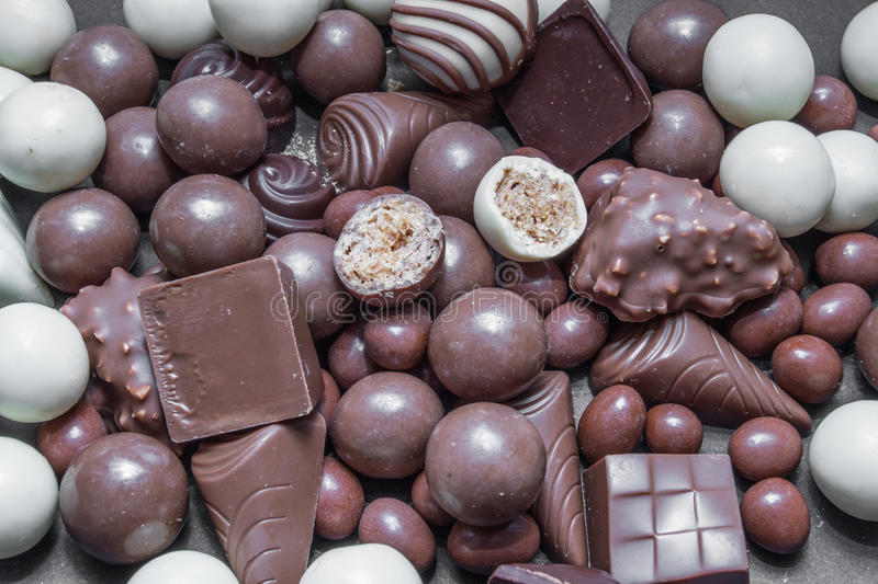 Various chocolates royalty free stock images