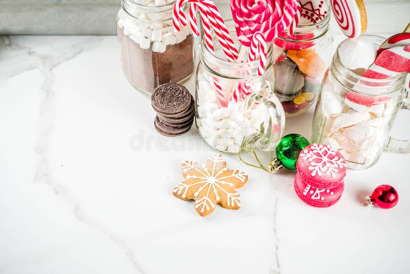 Various christmas sweets royalty free stock photo