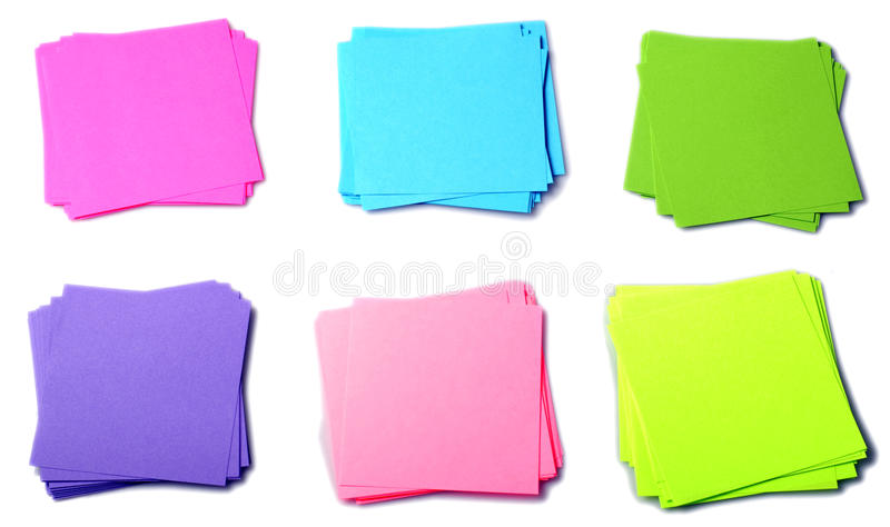 Various color paper royalty free stock photo