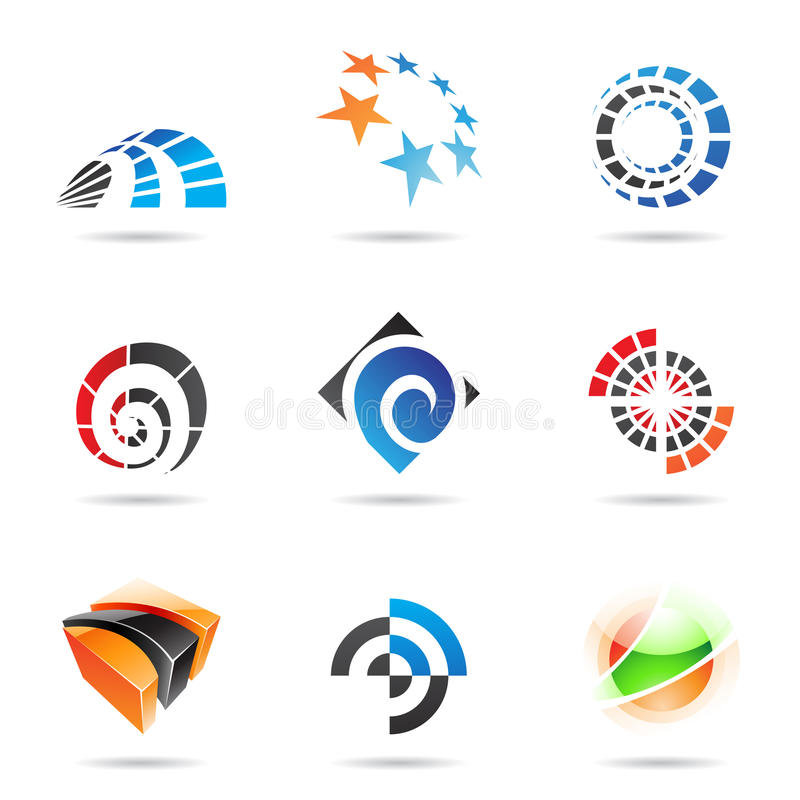 Free Various Colorful Abstract Icons, Set 19 Stock Images - 15202754