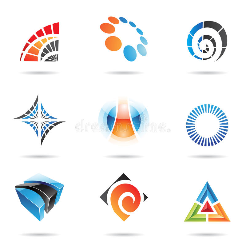 Download Various Colorful Abstract Icons, Set 5 Stock Vector - Image: 15159752