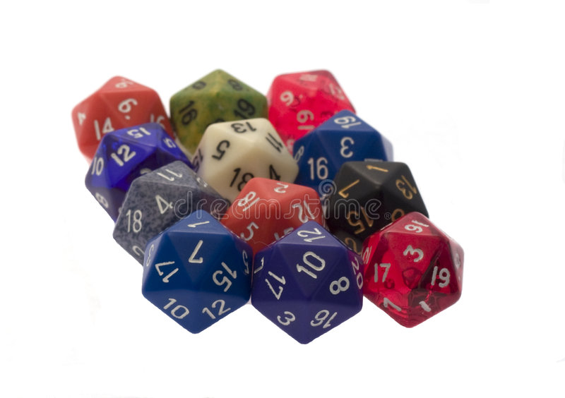 Various colors dices royalty free stock photo