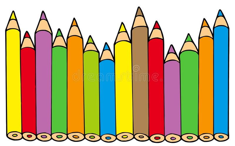 Various colors pencils vector illustration