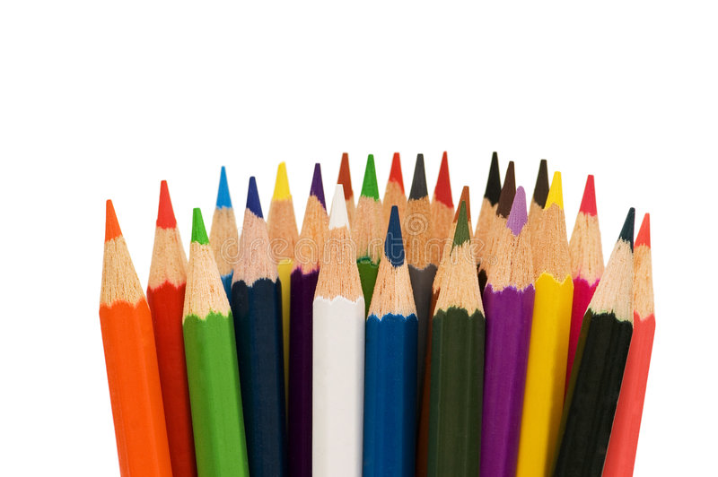 Download Various Colour Pencils Isolated Stock Image - Image: 6003757