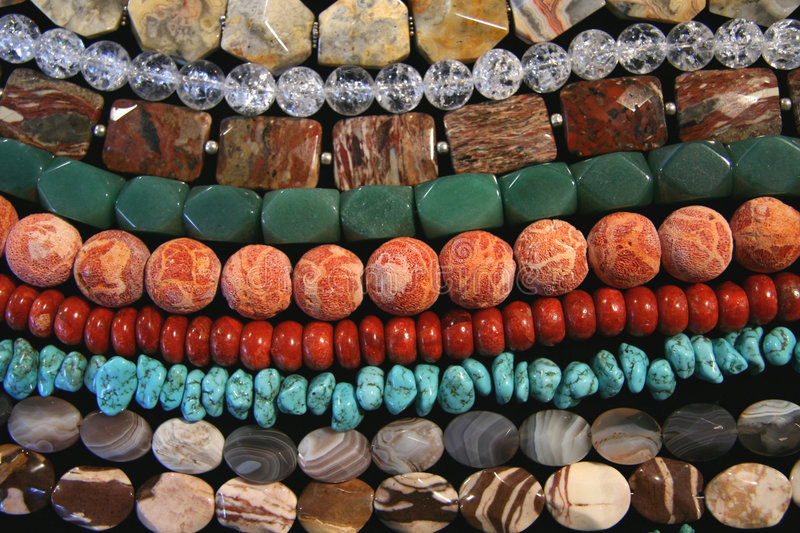 Various coral beads stock images