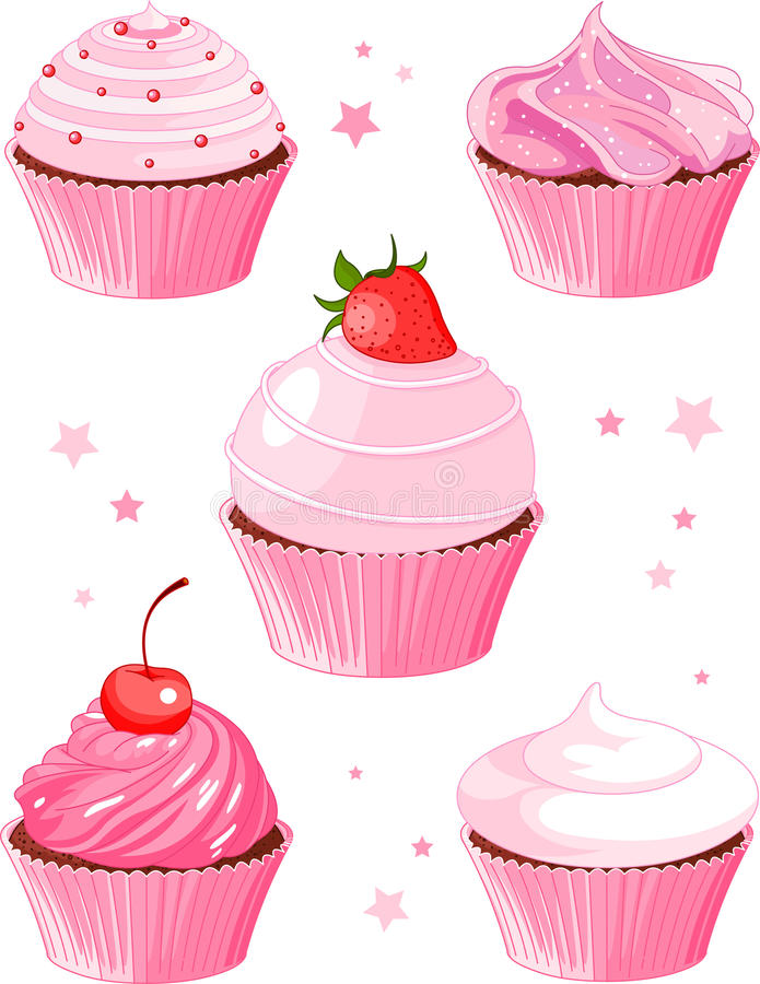 Download Various cupcake stock vector. Image of flower, party - 20915066