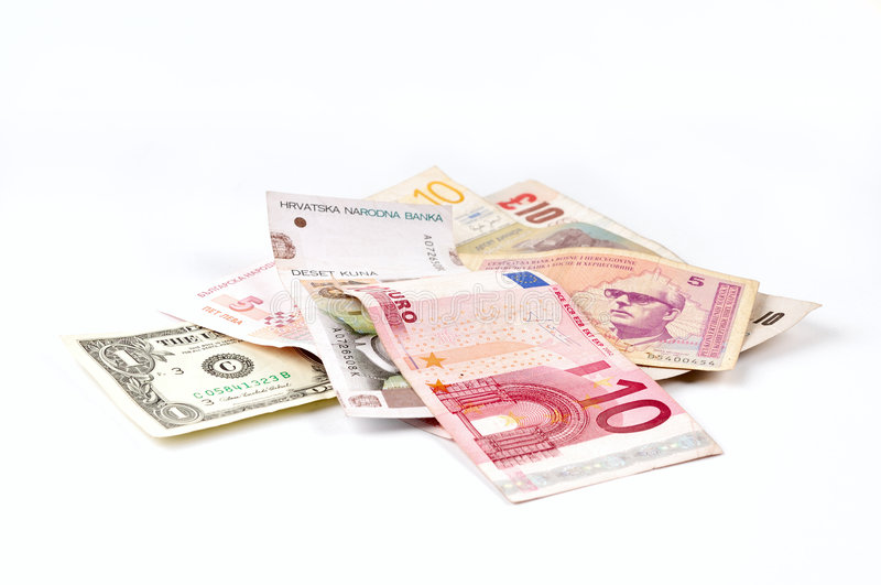 Various Currencies Angle View