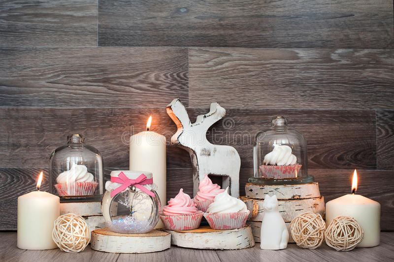 Various decor for sweets stock images