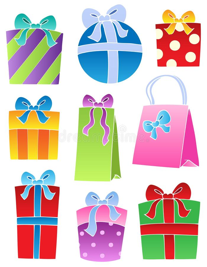 Download Various decorated gifts 2 stock vector. Illustration of band - 21634900