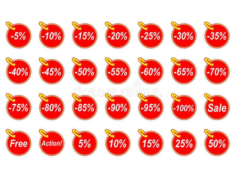 Various Discounts Stock Image