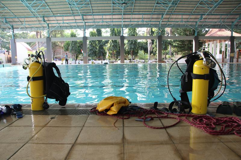 Various Diving Equipment, Which Will Be Used For Diving ...