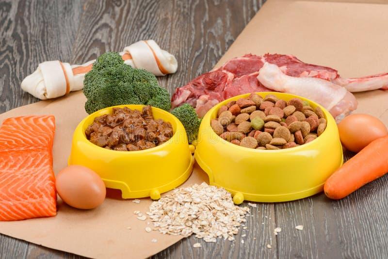 Various dog food stock photos