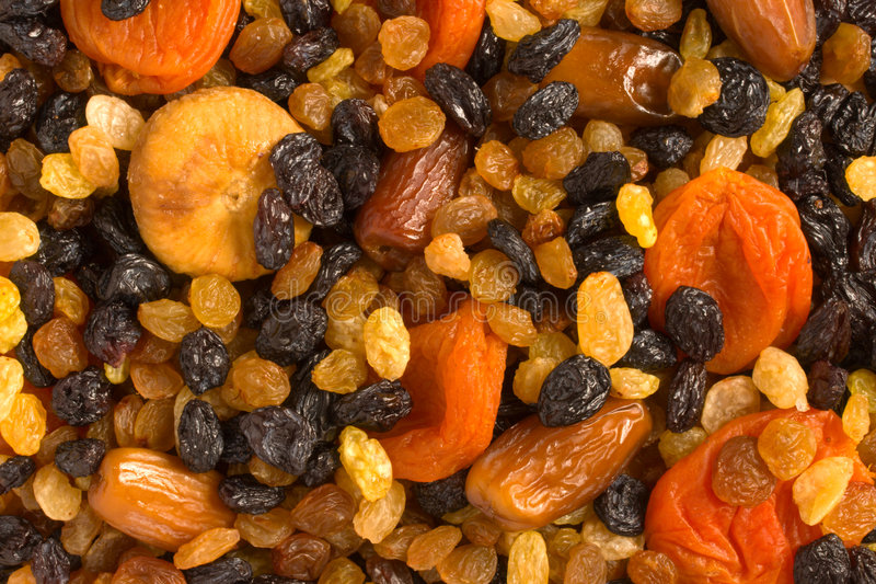 Various dried fruits close-up stock image