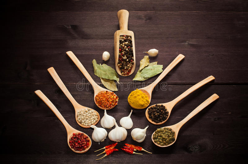 Various Exotic Spices Royalty Free Stock Images