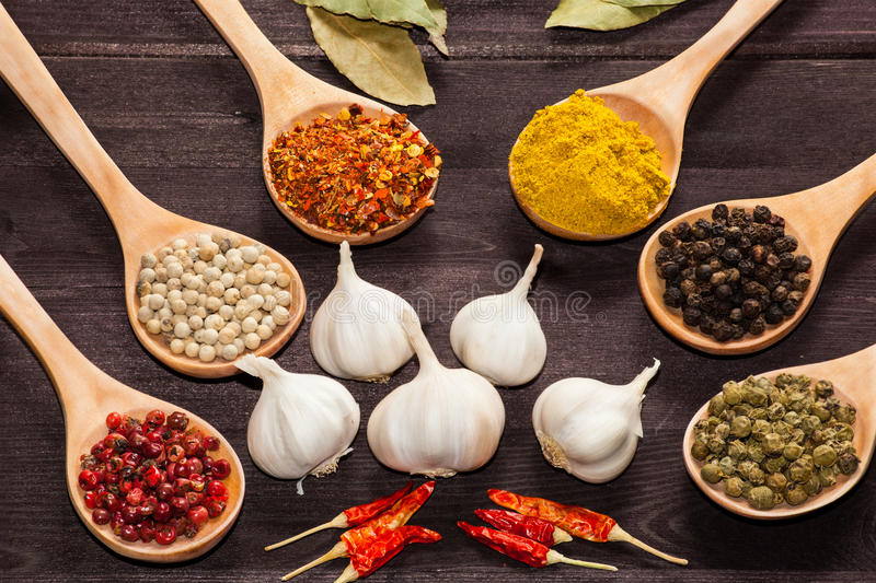 Download Various exotic spices stock image. Image of drink, empty - 29124735