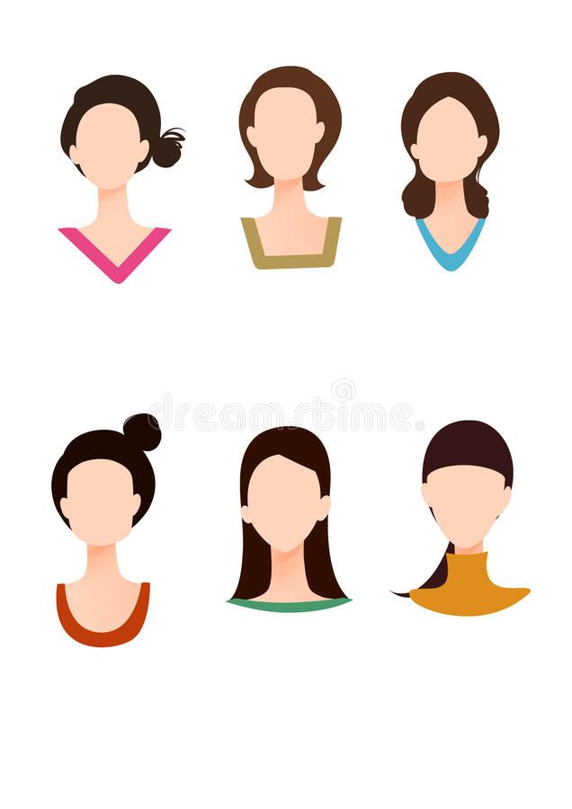Free Various Face Shape And Dress Collar Stock Images - 20245264