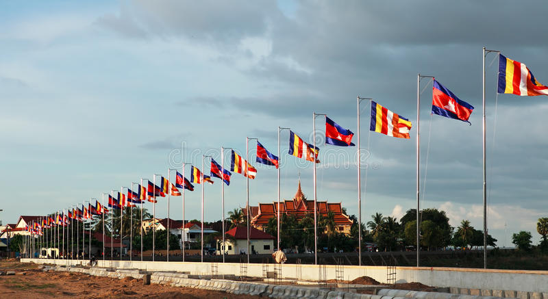 Various flags stock images
