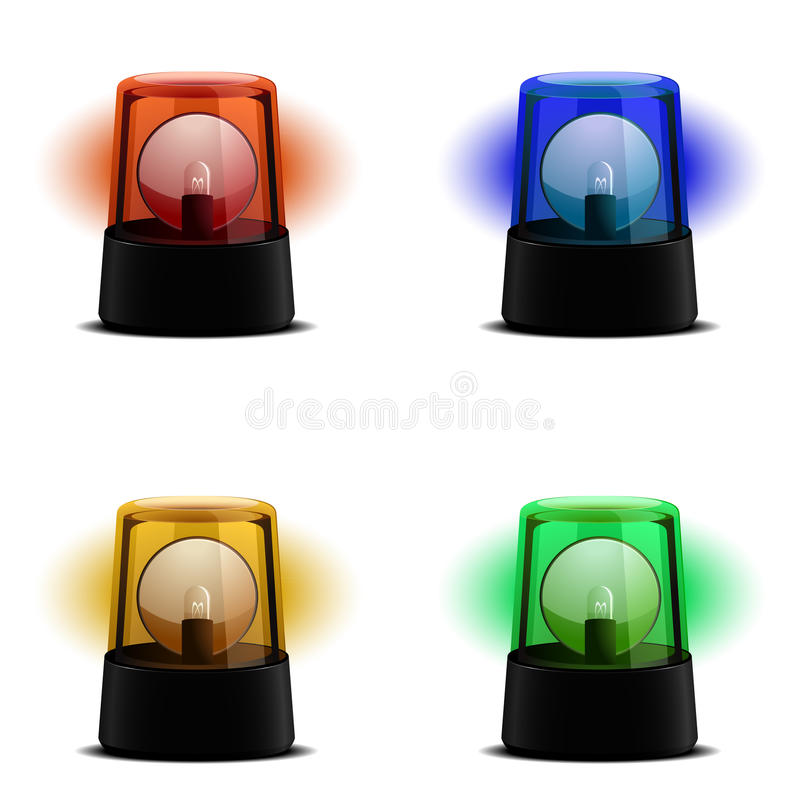 Download Various Flashing Lights stock vector. Image of emergency - 20724233