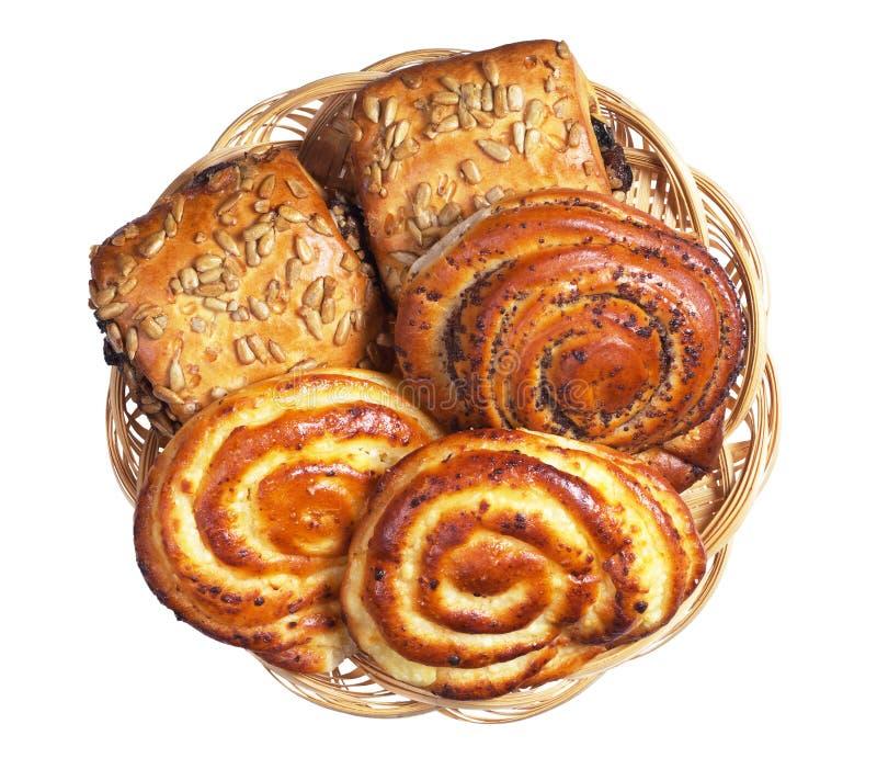 Various fresh buns royalty free stock image
