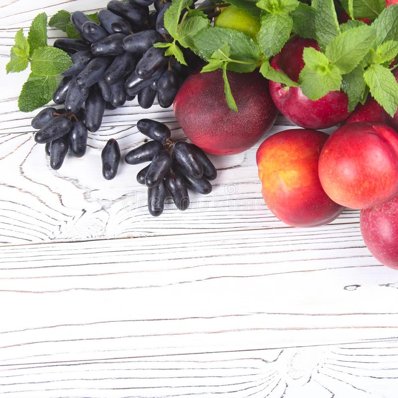 Various fresh fruits royalty free stock image