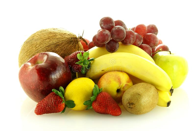 Various of fresh ripe juicy fruits royalty free stock photography