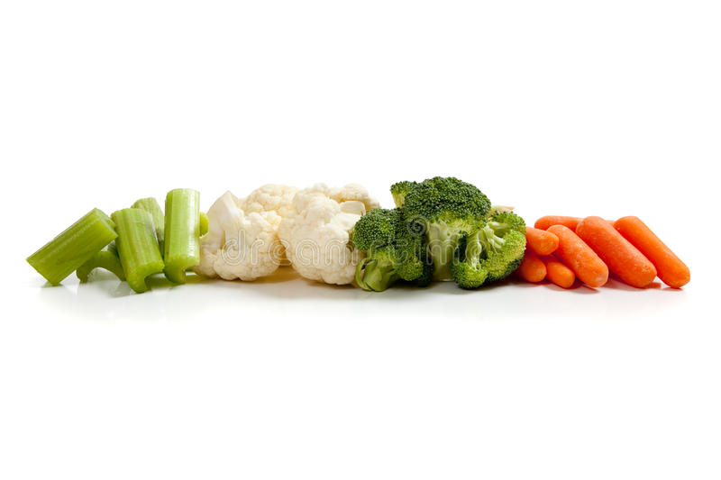 Download Various Fresh Vegetables On White Stock Photo - Image: 11286926