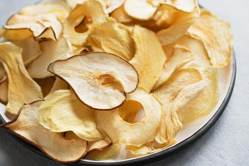 Various fruit chips stock photography