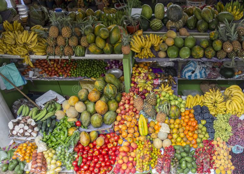 Various fruits for sale at a market. In Amsterdam stock photo