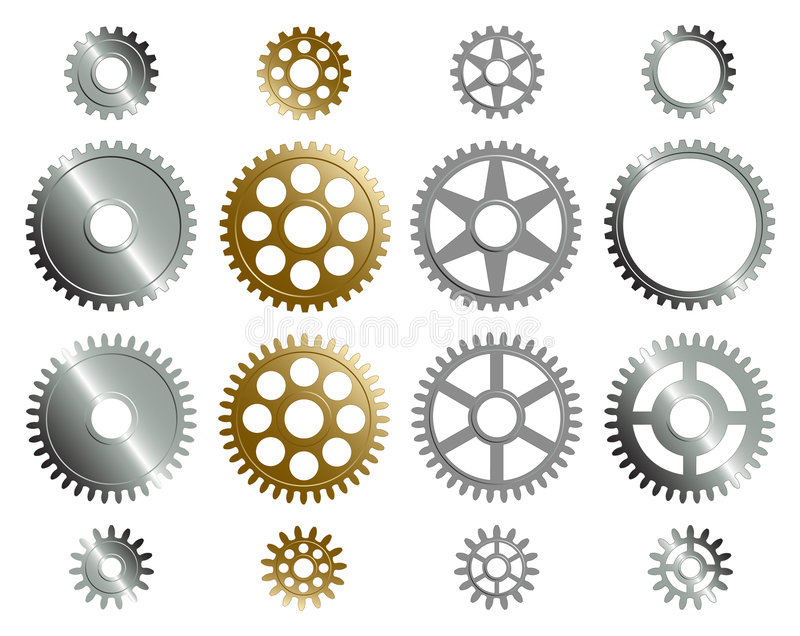 Various gears. royalty free illustration