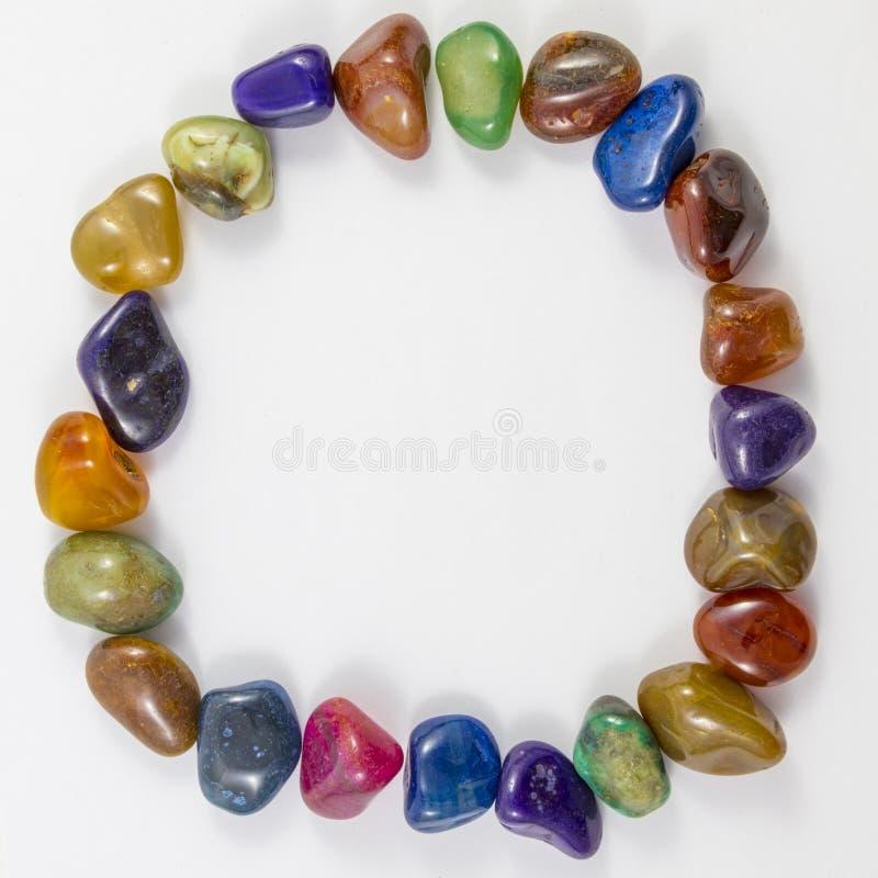 Various Gems and Crystals circle royalty free stock image