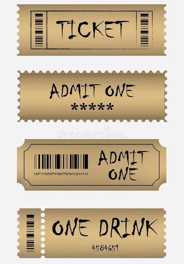 Various golden ticket set
