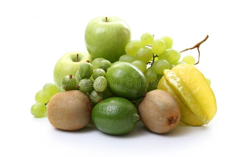 Various green fruits royalty free stock photos