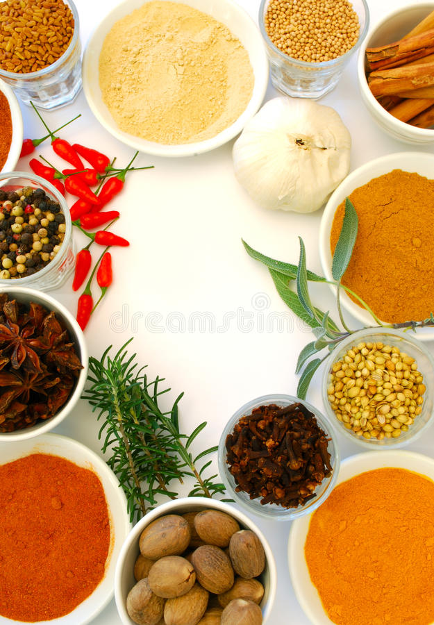 Free Various Ground And Whole Spice Stock Photography - 10465782