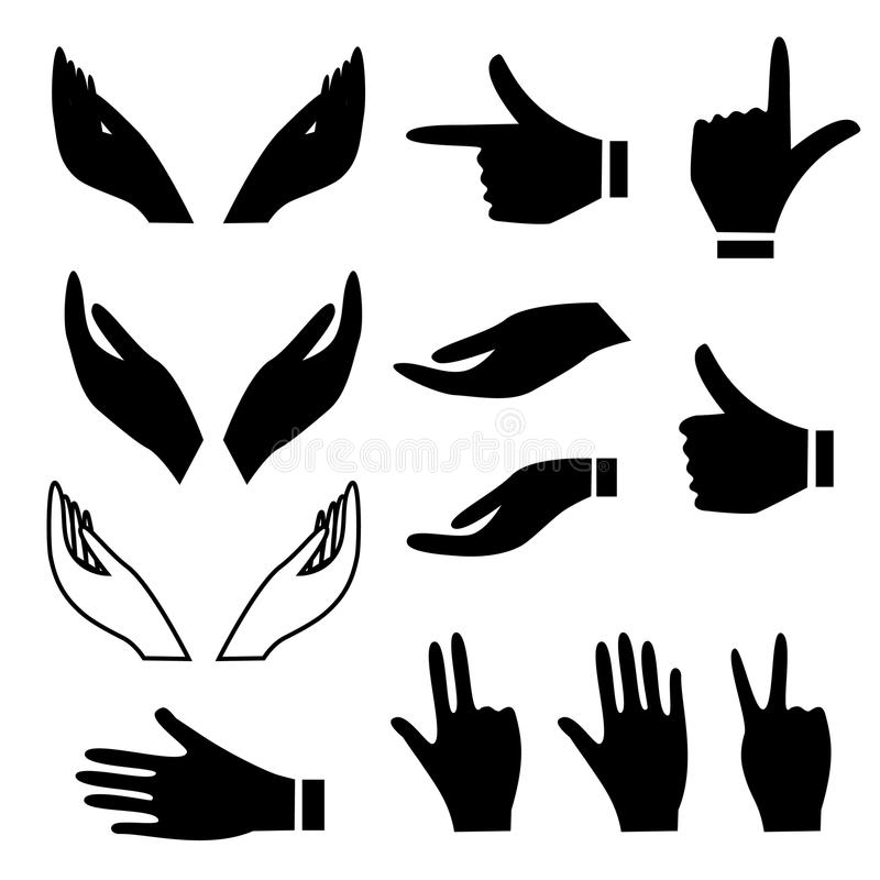 Various Hand Gestures Stock Photography