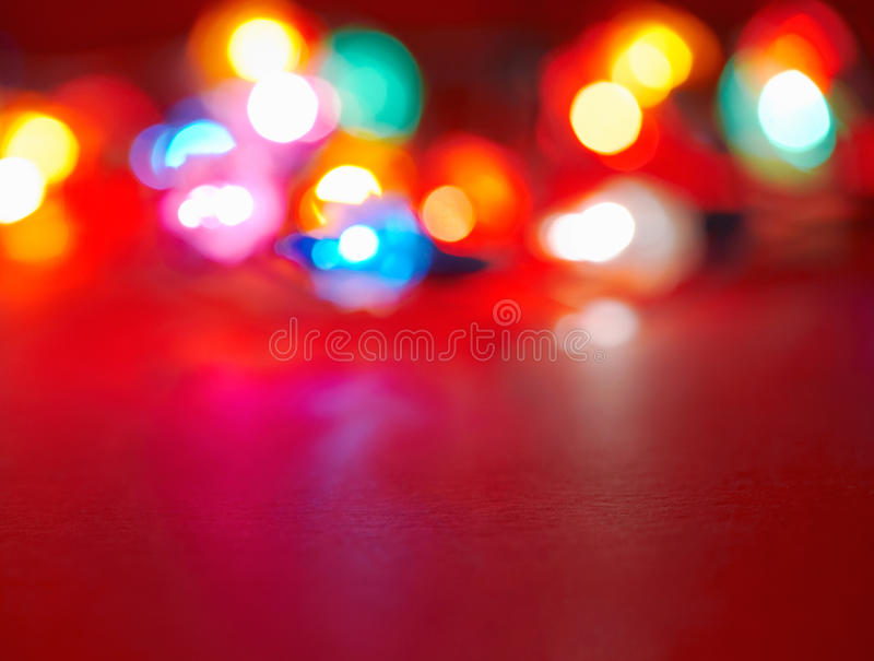 Various holiday lights. Image is blurry and grainy stock photography