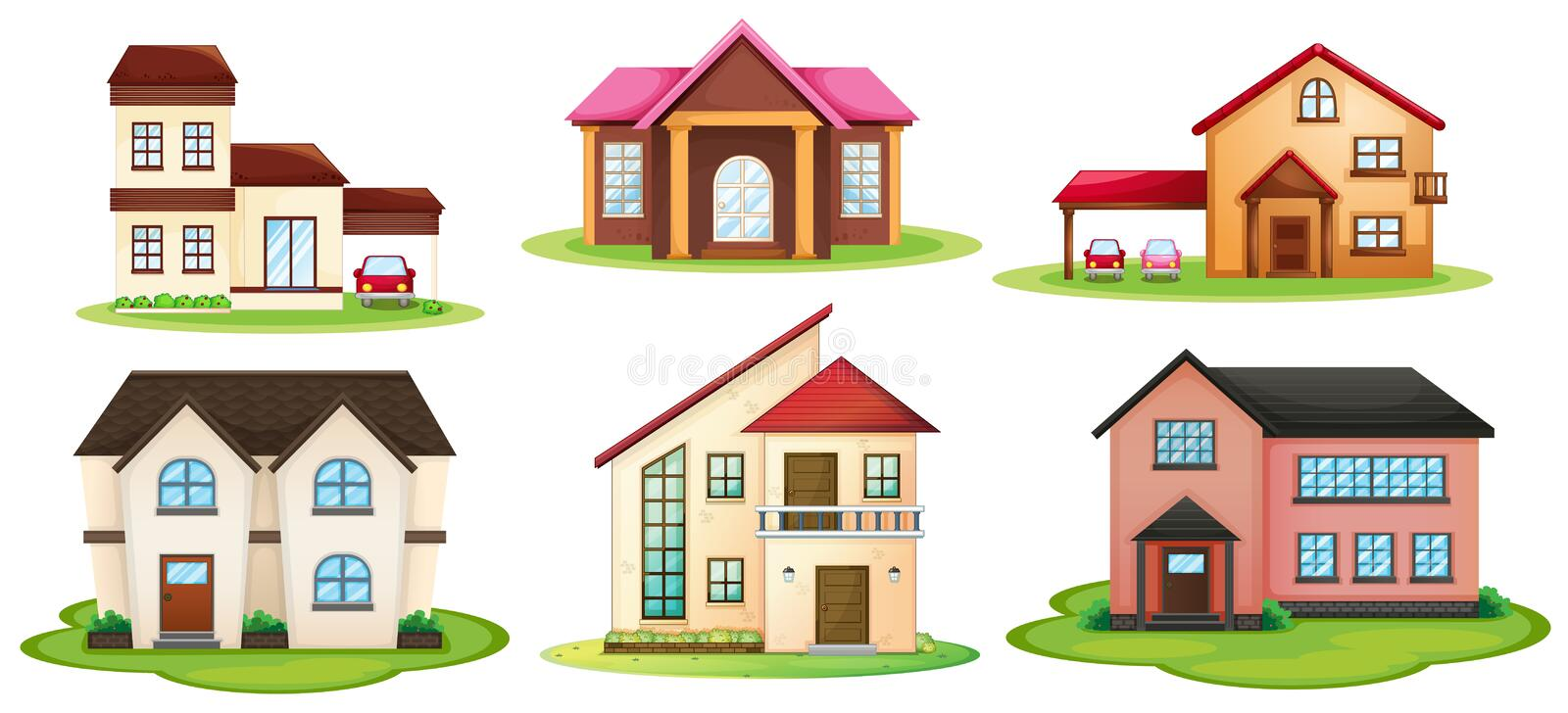 Download Various houses stock illustration. Image of front, clip - 27898329