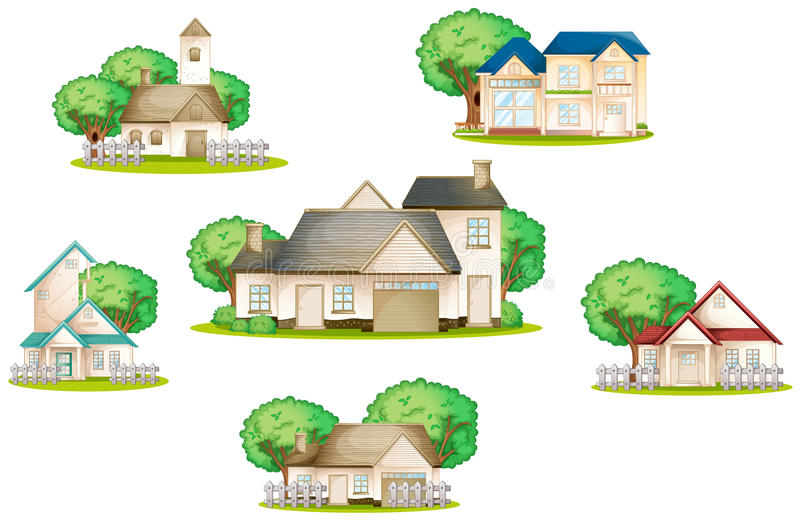 Various houses vector illustration