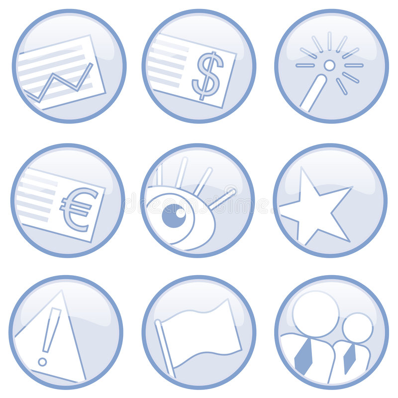 Various icons royalty free illustration