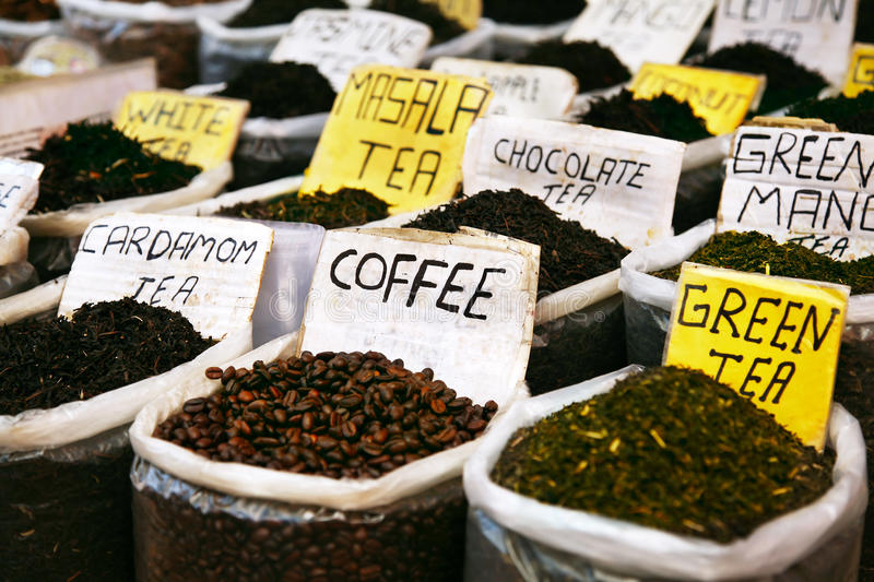 Various of Indian spices stock images