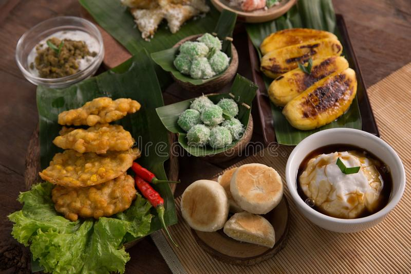 Various of indonesian food stock photography